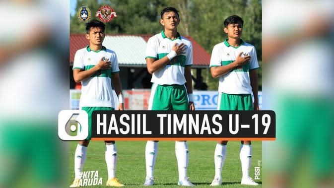 VIDEO: Timnas Indonesia U-19 Kalah 3-0 Atas Bulgaria