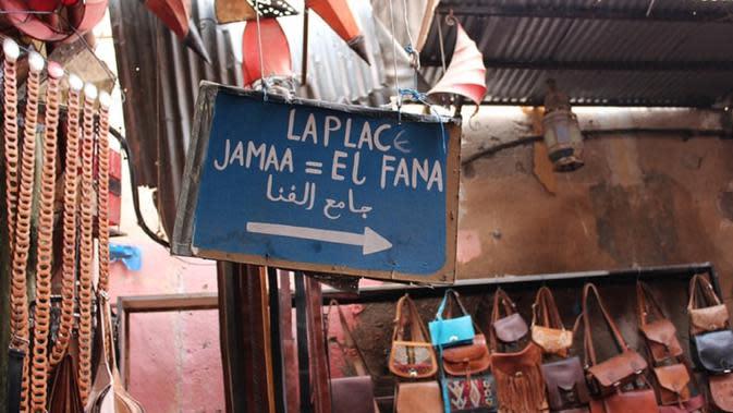 Marrakesh, salah satu destinasi wisata di Maroko yang biasanya ramai dipadati turis, kini sepi (Dok.Unsplash/ Rodolfo Cuadros)