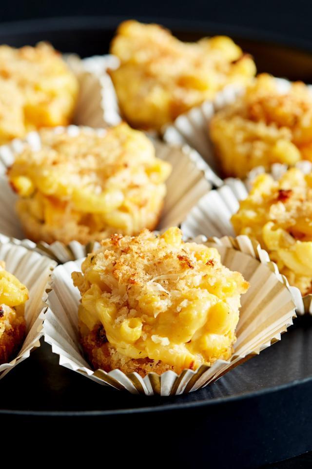 """<p><strong>Get the recipe</strong>: <a rel=""""nofollow"""" href=""""https://www.popsugar.com/food/Pumpkin-Macaroni-Cheese-Muffins-42263244"""">pumpkin macaroni and cheese muffins</a> </p>"""