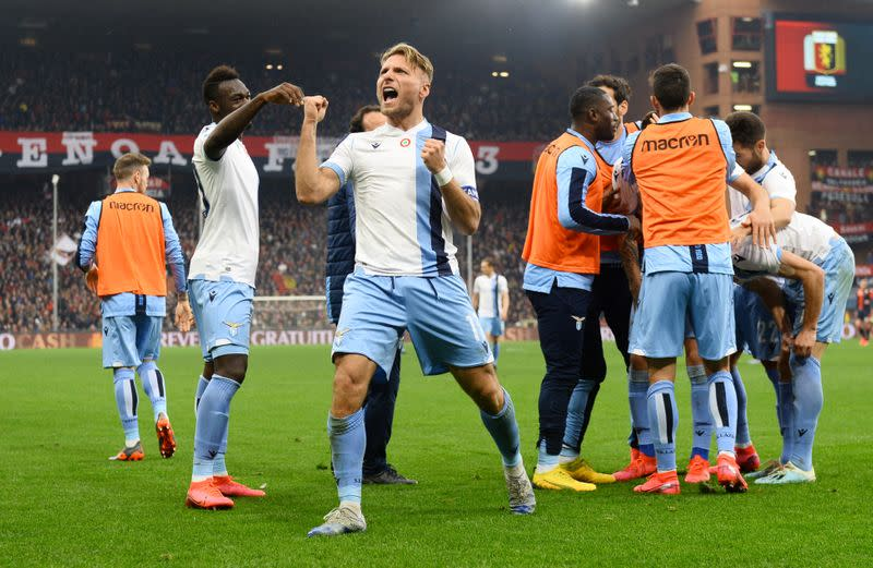 Immobile on target as irrepressible Lazio win again