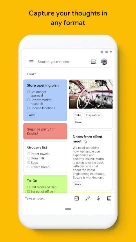 best note taking apps google keep