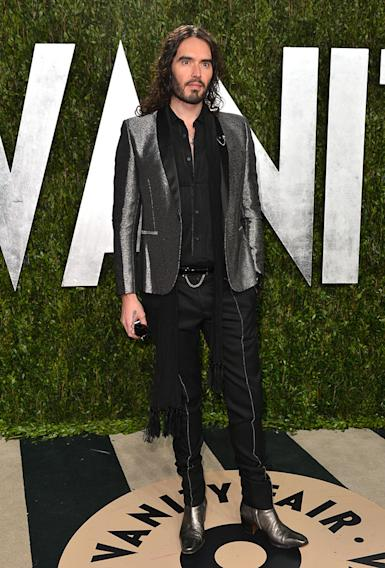 2013 Vanity Fair Oscar Party Hosted By Graydon Carter - Arrivals: Russell Brand