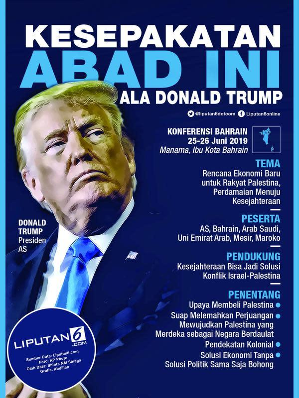 Infografis Presiden AS Donald Trump (Liputan6.com/Abdillah)