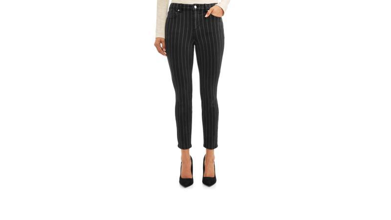 Rosa Curvy Striped High Waist Ankle Jean. (Photo: Walmart)