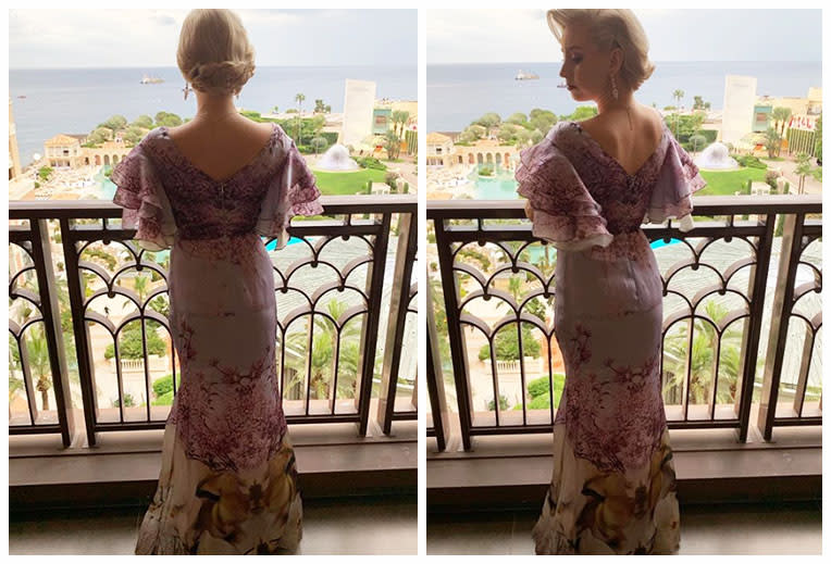 Jazmin Grimaldi pictured at Monaco royal wedding
