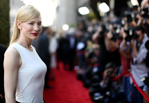 "Cate Blanchett arrives on the red carpet at the LA Premiere of ""Blue Jasmine"" at the Academy of Motion Pictures Arts and Sciences on Wednesday, July 24, 2013 in Los Angeles. (Photo by Matt Sayles/Invision/AP)"