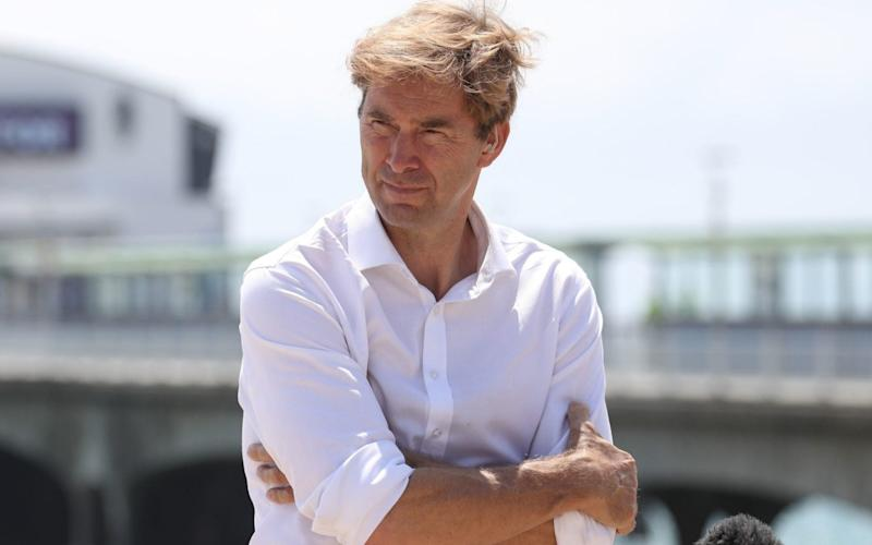 Tobias Ellwood said: 'The Navy's fleet is a national asset, and if there is a spike in the Channel then a supportive arrangement from the MoD to the Home Office should be triggered in order to protect our shores' - Andrew Matthews/PA