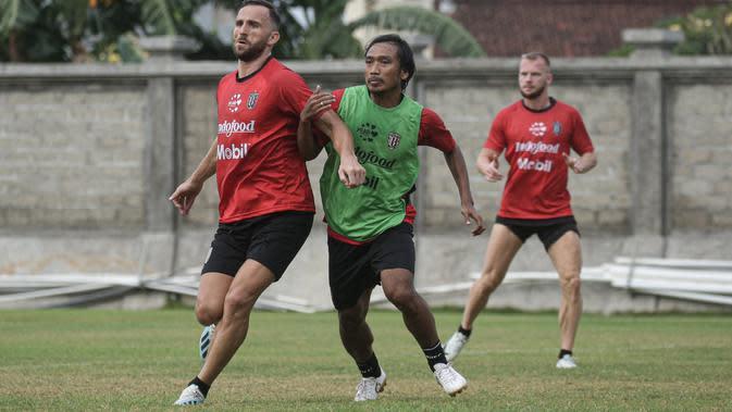 Suasana latihan Bali United. (Dok Bali United)