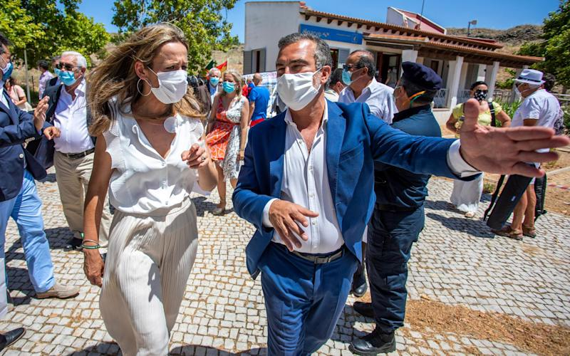 On July 1 a ceremony marked the reopening of the Spain–Portugal border. - Getty