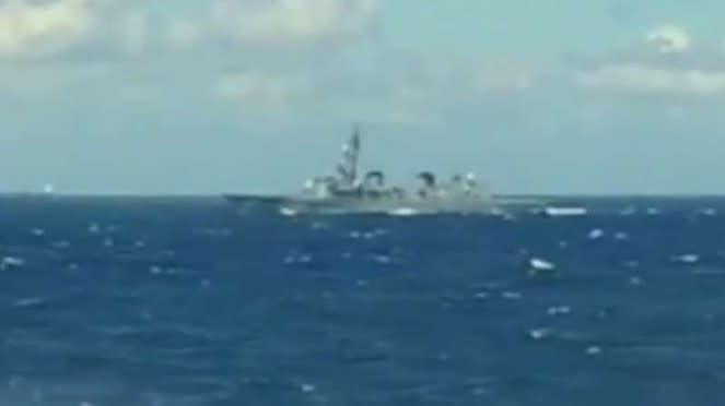 VIVA Militer: Kapal Induk Kaga terdeteksi dari KRI Sutanto-377