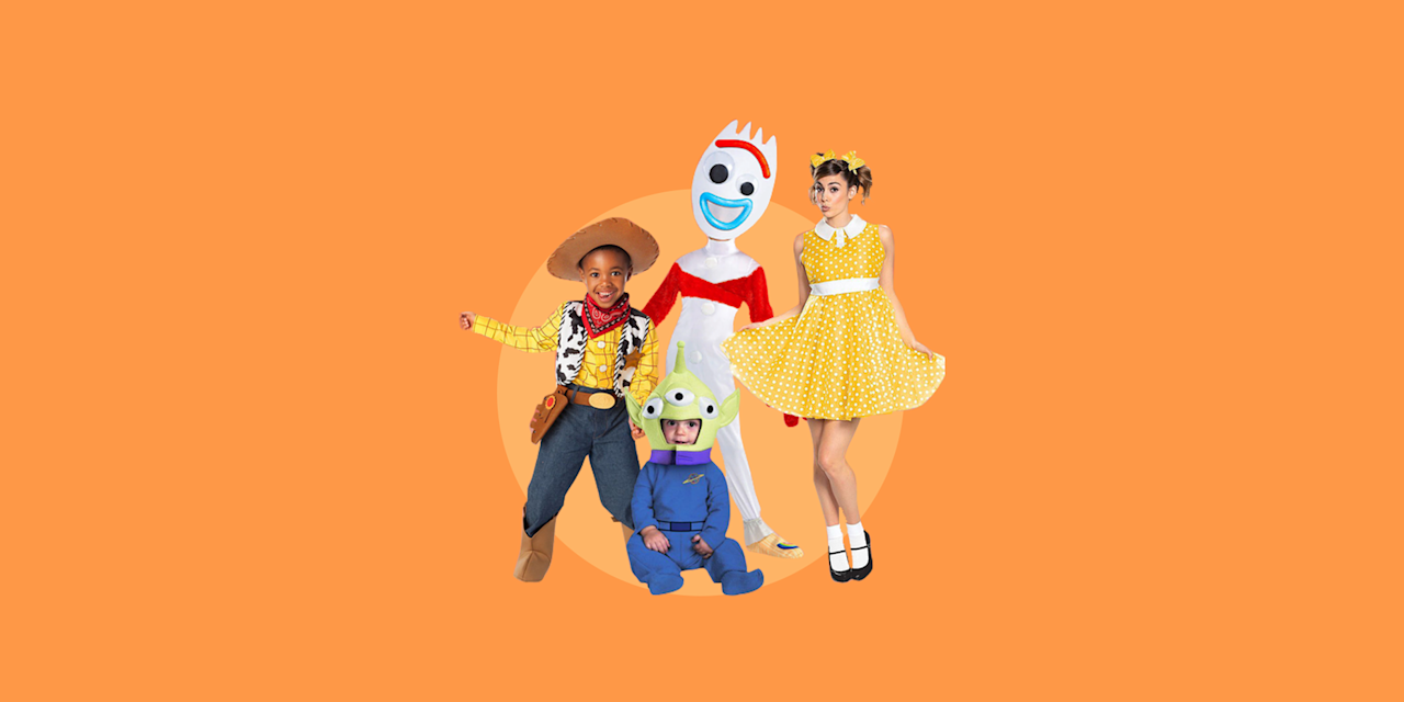 """<p>Dressing up for Halloween can actually be stressful, especially when it comes to picking out <a href=""""https://www.goodhousekeeping.com/holidays/halloween-ideas/g385/popular-kids-halloween-costumes/"""" target=""""_blank"""">costumes for young children</a> in the family. However, picking one shared theme that all family members can participate in not only makes things easier, but it makes the whole dressing up process a lot more fun! (And, not to mention matching costumes can help create some pretty darn cute Halloween photos).</p><p>When it comes to choosing family Halloween costume themes, think of <a href=""""https://www.goodhousekeeping.com/holidays/halloween-ideas/g22127013/book-character-costumes/"""" target=""""_blank"""">storybook characters costumes</a>, <a href=""""https://www.goodhousekeeping.com/holidays/halloween-ideas/g4771/disney-halloween-costumes/"""" target=""""_blank"""">Disney costumes</a>, and your <a href=""""https://www.goodhousekeeping.com/holidays/halloween-ideas/g4566/superhero-halloween-costumes/"""" target=""""_blank"""">favorite superheroes</a>. You'll find that some family Halloween <a href=""""https://www.goodhousekeeping.com/holidays/halloween-ideas/g21931993/teen-halloween-costumes/"""" target=""""_blank"""">costumes are actually even cool enough for teens</a> to wear. No matter if you want to go full on scary or need something at the last minute, here are 28 family-friendly Halloween costume ideas for families big and small, young and old. </p><p><em>For more <a href=""""https://www.goodhousekeeping.com/holidays/halloween-ideas/"""" target=""""_blank"""">Halloween ideas</a>, be sure to check Good Housekeeping's <a href=""""https://www.goodhousekeeping.com/holidays/halloween-ideas/g3727/halloween-appetizer-recipes/"""" target=""""_blank"""">Halloween guide on recipes</a>, <a href=""""https://www.goodhousekeeping.com/holidays/halloween-ideas/g421/halloween-decorating-ideas/"""" target=""""_blank"""">party decorations</a>, <a href=""""https://www.goodhousekeeping.com/holidays/halloween-ideas/g23570139/halloween-movies-netflix/"""""""