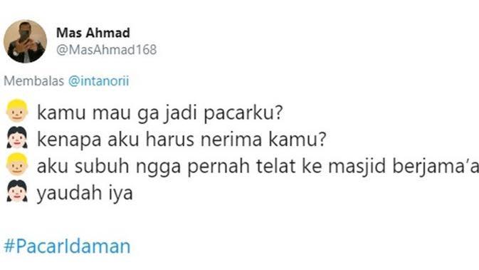 Chat nembak pacar (Sumber: Twitter/MasAhmad168)