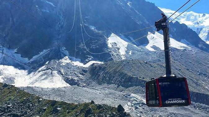 Kereta gantung di pegunungan Alpen. (BBC)