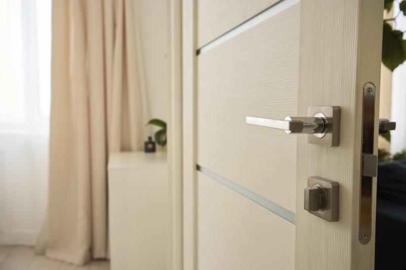 White bedroom door