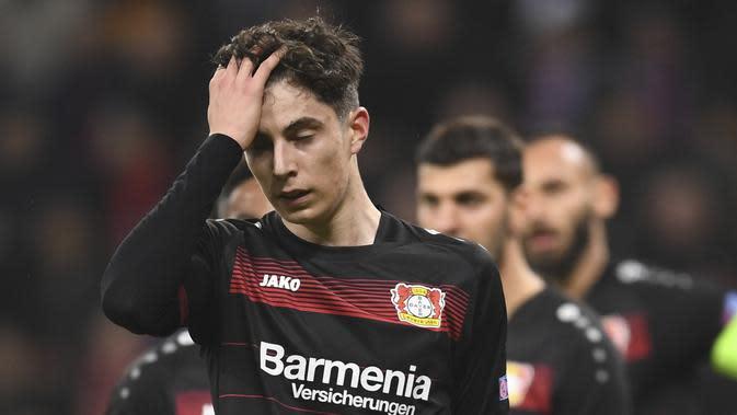 Gelandang remaja Bayer Leverkusen Kai Havertz. (AP Photo/Marius Becker)