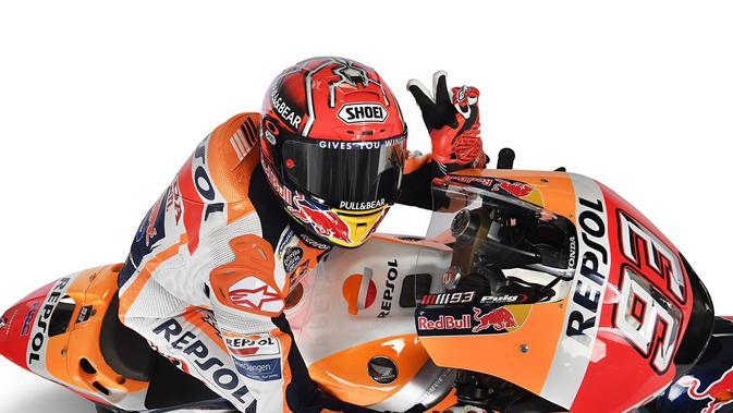 Pembalap Repsol Honda, Marc Marquez meneken kontrak baru hingga MotoGP 2020. (Twitter/Marc Marquez)