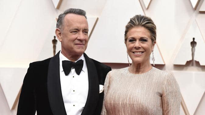 Tom Hanks dan sang istri, Rita Wilson (Photo by Jordan Strauss/Invision/AP, File)