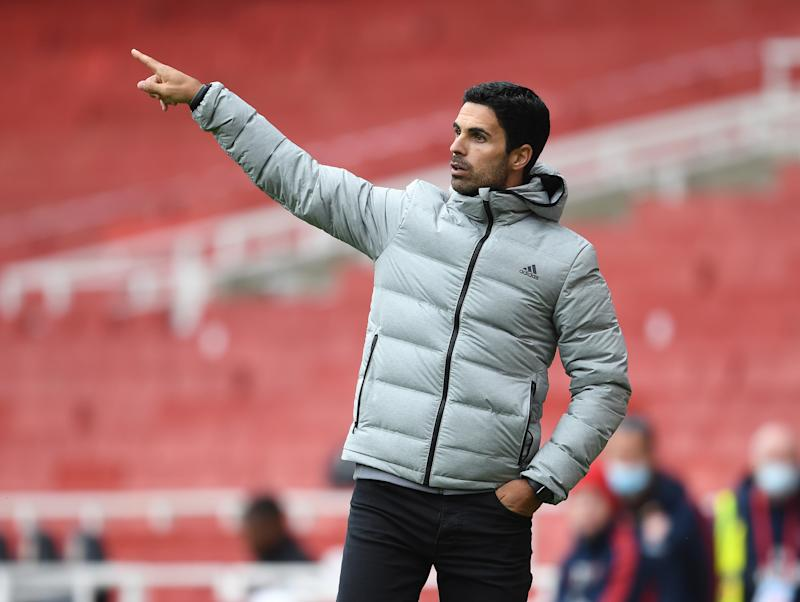 LONDON, ENGLAND - JUNE 06: Arsenal Head Coach Mikel Arteta during a friendly match between Arsenal and Charlton Athletic at Emirates Stadium on June 06, 2020 in London, England. (Photo by Stuart MacFarlane/Arsenal FC via Getty Images)
