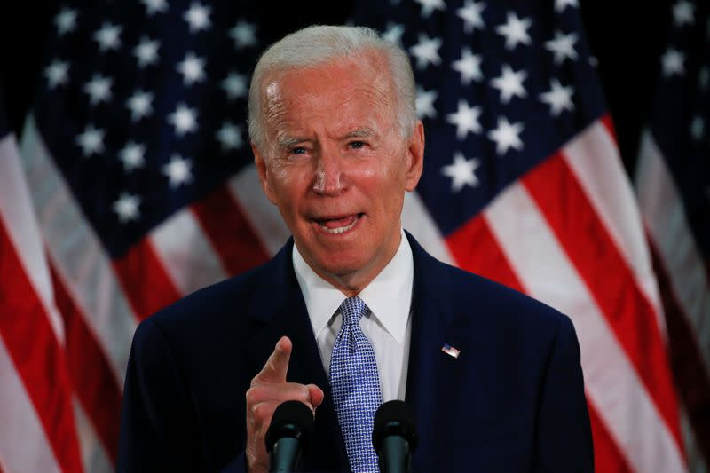 U.S. Democratic candidate Biden calls on Facebook to change political speech rules