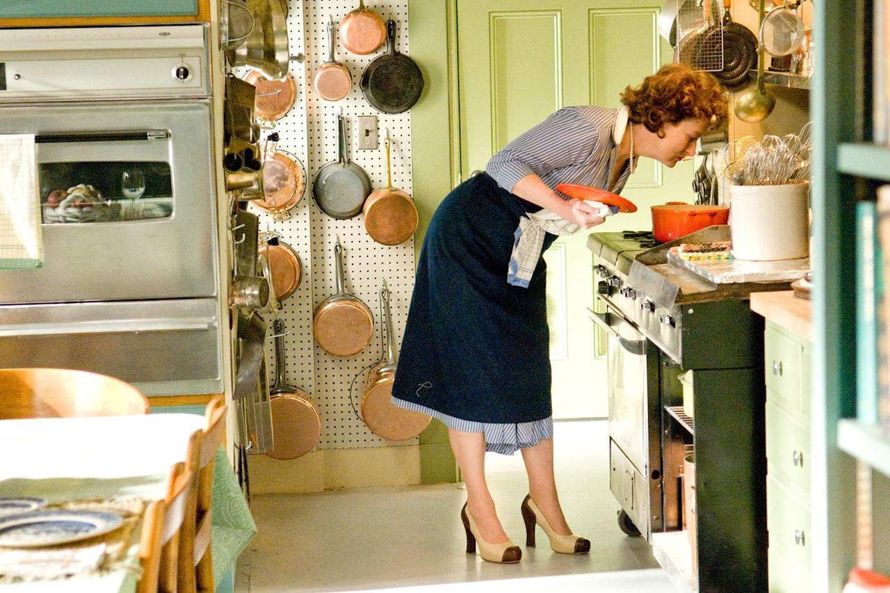 "<p><a class=""body-btn-link"" href=""https://www.netflix.com/watch/70112732?source=35"" target=""_blank"">Watch Now</a></p><p><em>Julie & Julia </em>is the definition of a feel-good movie. The film follows Julia Child (played by the incomparable Meryl Streep) and her modern-day admirer Julie Powell (Amy Adams) as they search for meaning in their lives and kitchens. </p>"