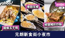 【元朗美食】元朗新食街小夜市 爆蒜生蠔/鑊氣炒飯/龍蝦玉子燒/足料花膠雞湯