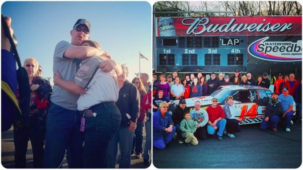 Returning Afghanistan veteran gets huge surprise from racing friends