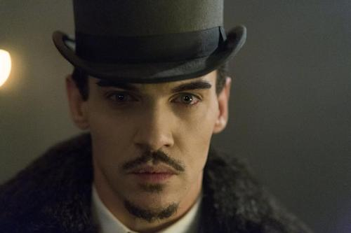 "This is an undated publicity image released by NBC shows Jonathan Rhys Meyers as Alexander Grayson in ""Dracula,"" . Rhys Meyers is in NBC's new series ""Dracula,"" playing the world's most famous vampire as a sleekly alluring bloodsucker. Still, he says he hesitated when the part was offered to him, hoping for something a little more, well, normal. (AP Photo/NBC, Jonathon Hession)"