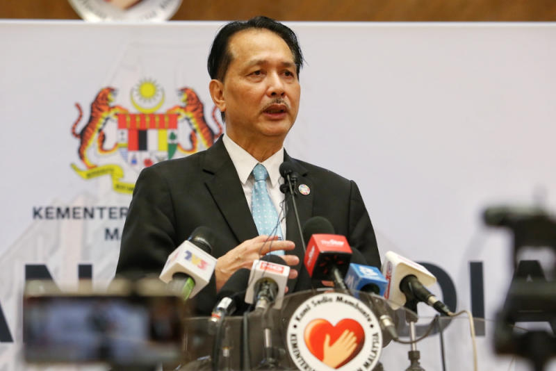 Health Director-General Datuk Dr Noor Hisham Abdullah said the ministry was informed of a super-spreader Covid-19 strain that originated from countries such as Egypt and Pakistan. Picture by Choo Choy May
