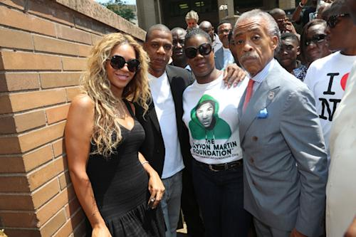 Jay Z and Beyonce Attend Rally for Trayvon Martin