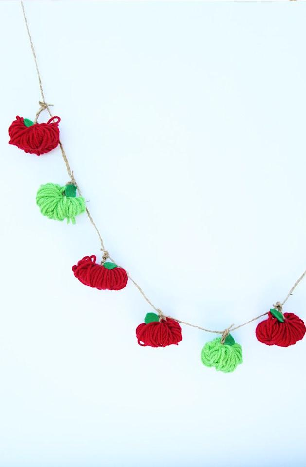"""<p>Back to school means apples (for the teacher), apples (to keep the doctor away), and more apples (for apple-picking season). This festive yarn garland stays true to the fall feeling in the air.</p><p><em><a href=""""https://www.thebestideasforkids.com/yarn-apple-garland/"""" target=""""_blank"""">Get the tutorial at The Best Ideas for Kids »</a></em></p><p><strong>RELATED:</strong> <a href=""""https://www.goodhousekeeping.com/life/parenting/g30728246/100-days-of-school-ideas/"""" target=""""_blank"""">Creative 100 Days of School Project Ideas to Celebrate How Far the Kids Have Come</a></p>"""