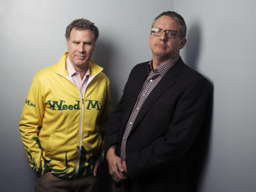 """This Dec. 6, 2013 photo shows actor Will Ferrell, left, and director Adam McKay from the film """"Anchorman 2: The Legend Continues"""" posing in New York. Ferrell returns to portray newscaster Ron Burgundy in the sequel to """"Anchorman: The Legend of Ron Burgundy."""" (Photo by Victoria Will/Invision/AP)"""