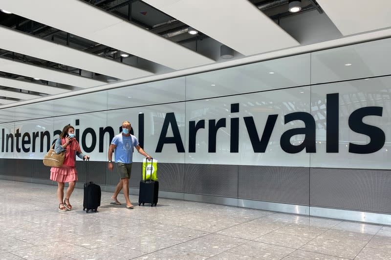 UK plan to introduce COVID-19 testing for international arrivals won't come until November - The Guardian