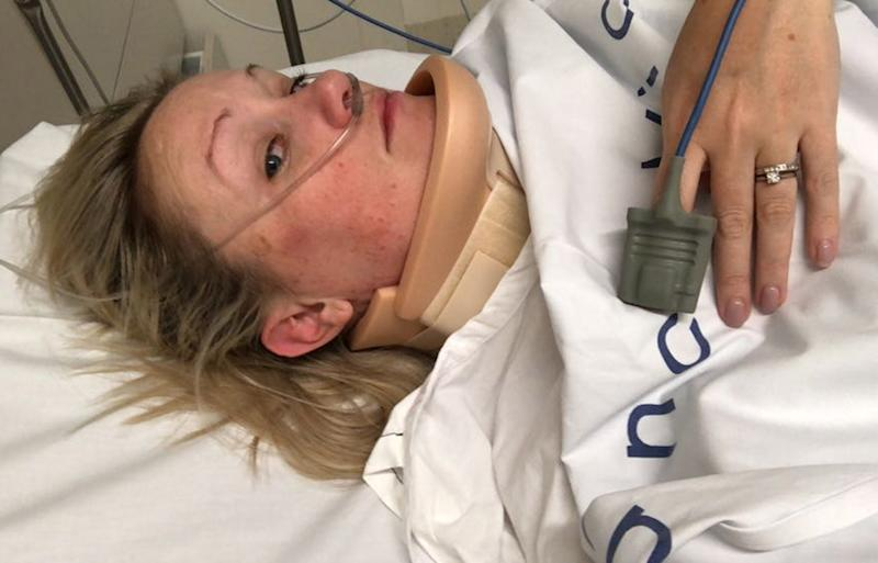Berwick mum Lindsey Forsyth collapses from POTS hypertension condition.