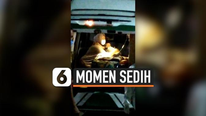VIDEO: Sedih, Ibu Peluk Cium Dua Anak Kecilnya yang Positif Corona