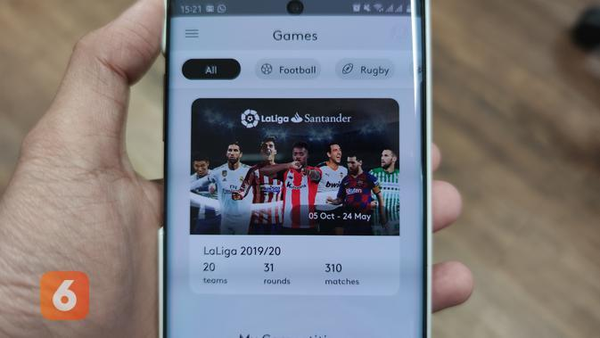 Aplikasi prediksi sepakbola SportsHero (Liputan6.com/ Agustin Setyo W)