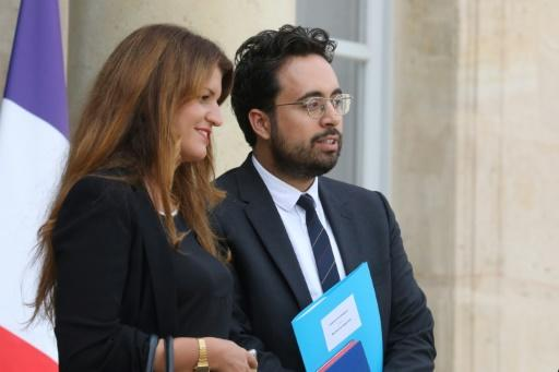 """Online harassment is against the law, French Equality Minister Marlene Schiappa (L) said, while Mounir Mahjoubi (R), the minister for digital affairs, described the League of LOL members as """"losers"""""""