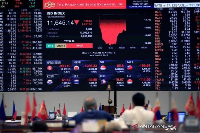 Bursa saham Filipina melemah, indeks PSE ditutup turun 0,10 persen