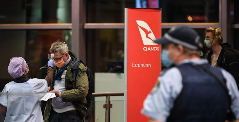 Qantas has grounded all international flights - getty