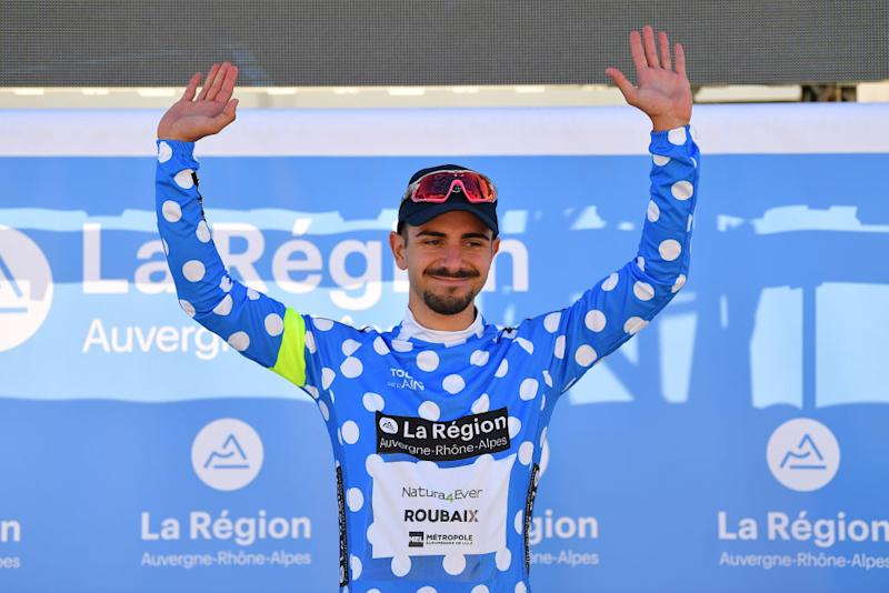 Ivan Centrone of Natura4ever-Roubaix takes polka-dot mountain classification jersey at Tour de L'Ain