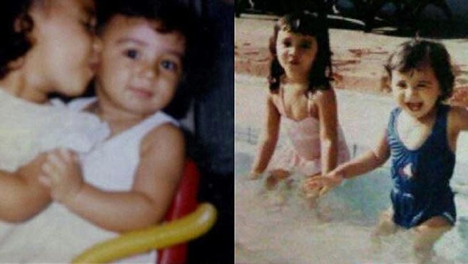 Potret hangat Zaskia dan Shireen saat masih kecil. Keduanya terlihat kompak dan masih imut-imut. Banyak yang warganet yang memuji keduany selebriti ini cantik sejak kecil. (Instagram/shireensungkar)