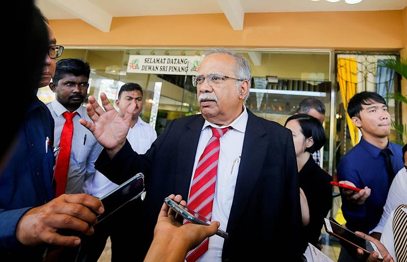 Penang Deputy Chief Minister II Prof P. Ramasamy says Pakatan's defeat in the Tanjung Piai by-election is symptomatic of deeper underlying problems. — Picture by Sayuti Zainudin