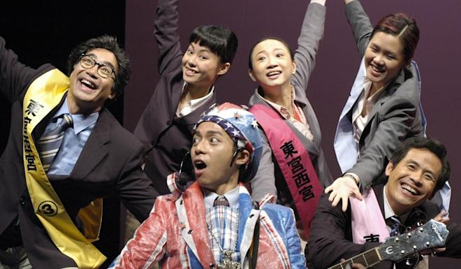 Tanya Chan (second from right, back row) in the East Wing West Wing play. Photo: Handout