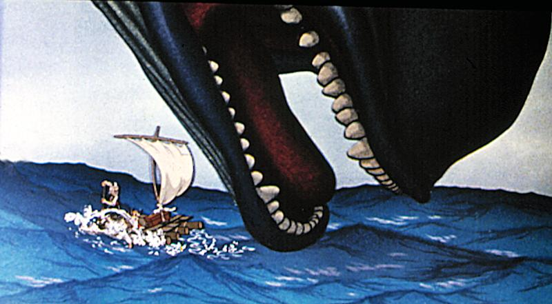 The climax of 'Pinocchio' pits the puppet and his creator against a monstrous whale (Photo: Walt Disney Productions. Courtesy: Everett Collection)