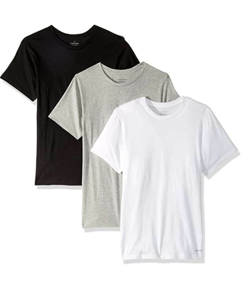 Calvin Klein men's cotton classics multipack crew-neck t-shirts. (PHOTO: Amazon)