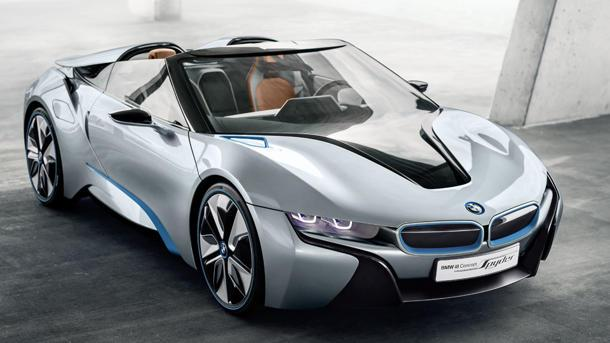 BMW i8 Concept Spyder plug-in hybrid brings the future closer