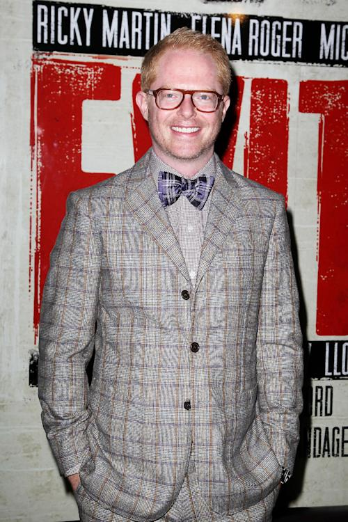 """In this April 5, 2012 photo, actor Jesse Tyler Ferguson attends the Broadway opening of """"Evita,"""" starring Ricky Martin, at the Marriott Marquis Hotel in New York. Ferguson is making a cameo for """"Submissions Only,"""" a new online scripted sitcom now wrapping up its second season that takes a hysterical look at the behind-the-scenes life of New York theater hopefuls. (AP Photo/Starpix, Amanda Schwab)"""