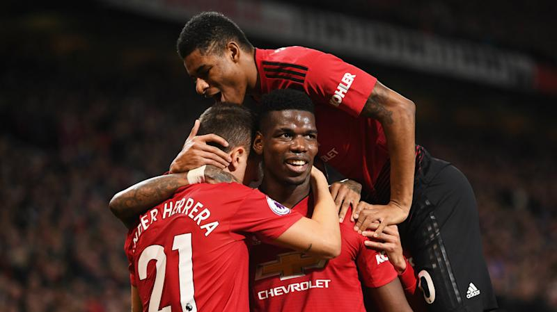 Paul Pogba Marcus Rashford Manchester United vs Bournemouth Premier League 2018-19