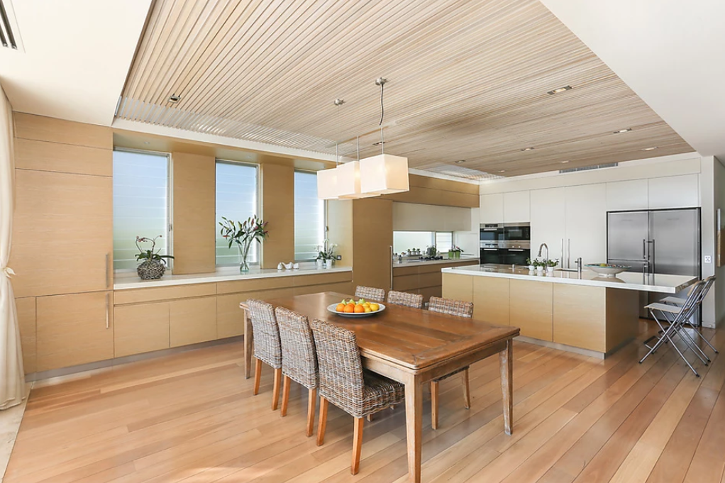 <p>The kitchen features gas and induction cooktops, a steam oven and high quality appliances. <br />Photo: Ray White Double Bay </p>