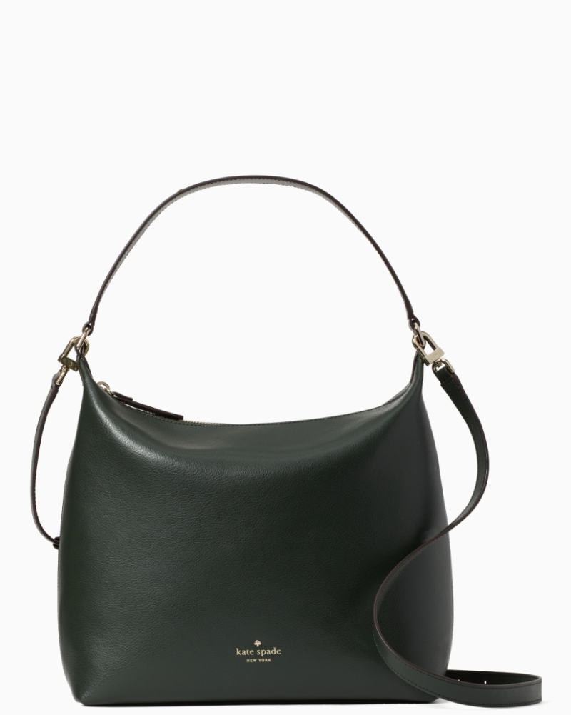 Kate Spade Greene Street Kaia Bag in Deep Evergreen is currently $129, marked down from $329 (Photo via Kate Spade)