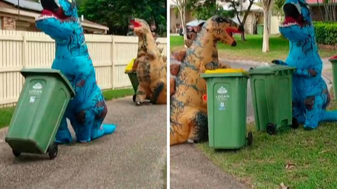 Warga Australia 'pesta kostum' saat buang sampah di masa pandemi corona COVID-19. (dok. Facebook/Marshall Foster)